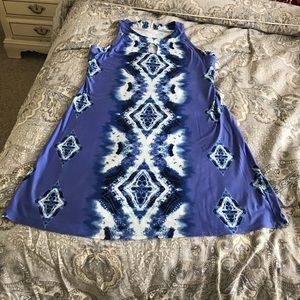 Soma Size Medium Tie Dye Design Keyhole neck Dress